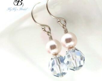 Blue Earrings, Bridal Earrings, Blue Crystal Earrings, Something Blue, Blue Jewelry, Wedding Jewelry, Something Blue Jewelry, Bride, Wedding