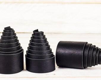"""Black Leather Straps -- 4 to 5 oz -- 1"""", 1.5"""", 2"""""""