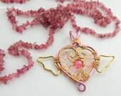 Sailormoon Brooch Pink Tree of Life Pendant