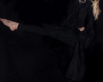 FRINGED Vest OBLIQUE | Black