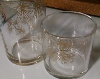 Vintage , 2 Vases, Candle Holders,  Pine sprills