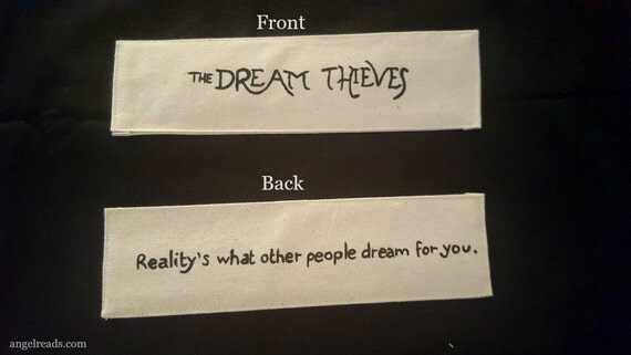 The Dream Thieves Fabric Bookmark