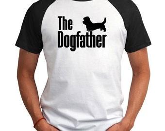 The dogfather Dandie Dinmont Terrier Raglan T-Shirt