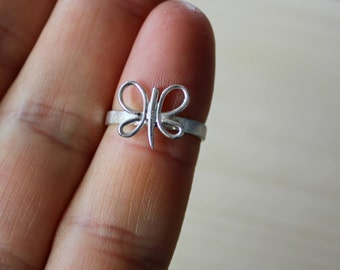 Silver Ring-Silver Butterfly Ring-Sterling Silver Butterfly Ring-Mini Butterfly  Ring-Butterfly Jewelry