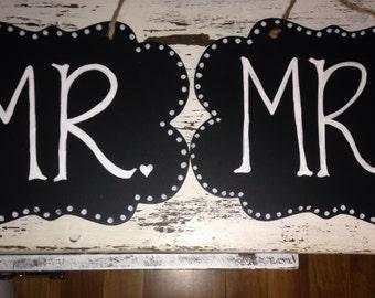 Rustic Mr. & Mrs. Signs