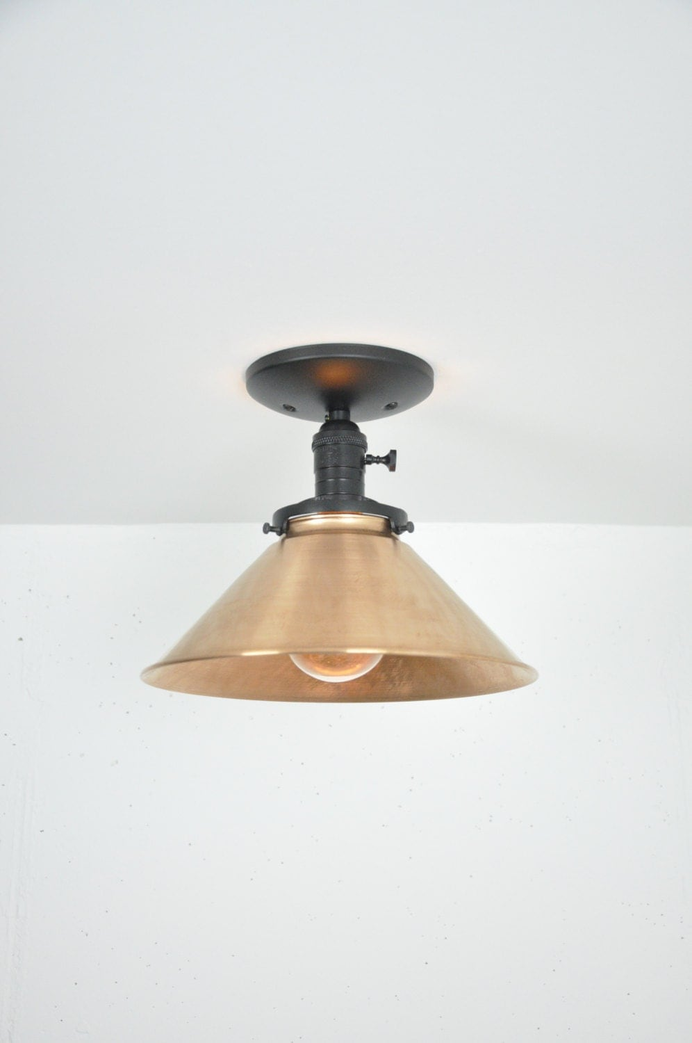 Ceiling Lights Copper : Inch copper ceiling light fixture