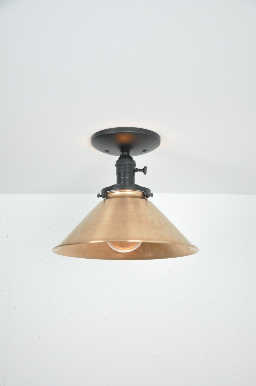 10 inch copper ceiling light fixture