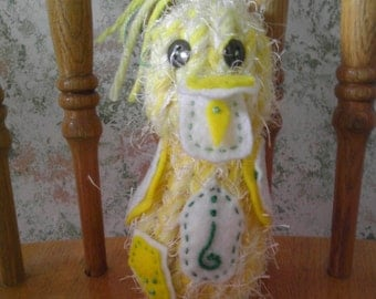 Duckling - plush, farm, woodland, handmade OOAK
