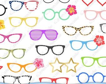 50 Glasses clipart. Digital Glasses clip art, pool party clipart, pool party clip art, summer clipart, summer clip art. Instant Download.