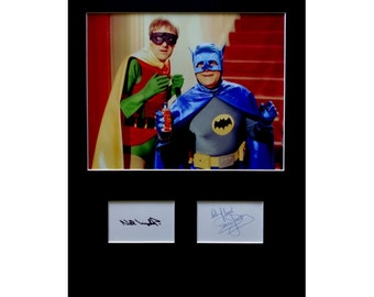 Only Fools and Horses AUTOGRAPH photo display David Jason Nicholas Lyndhurst Batman and Robin