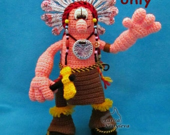 Brave Warrior, amigurumi crochet pattern
