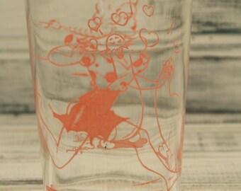 Federal Daisy Mae and Shmoo Glass - Al Capp Lil' Abner Series - 1949