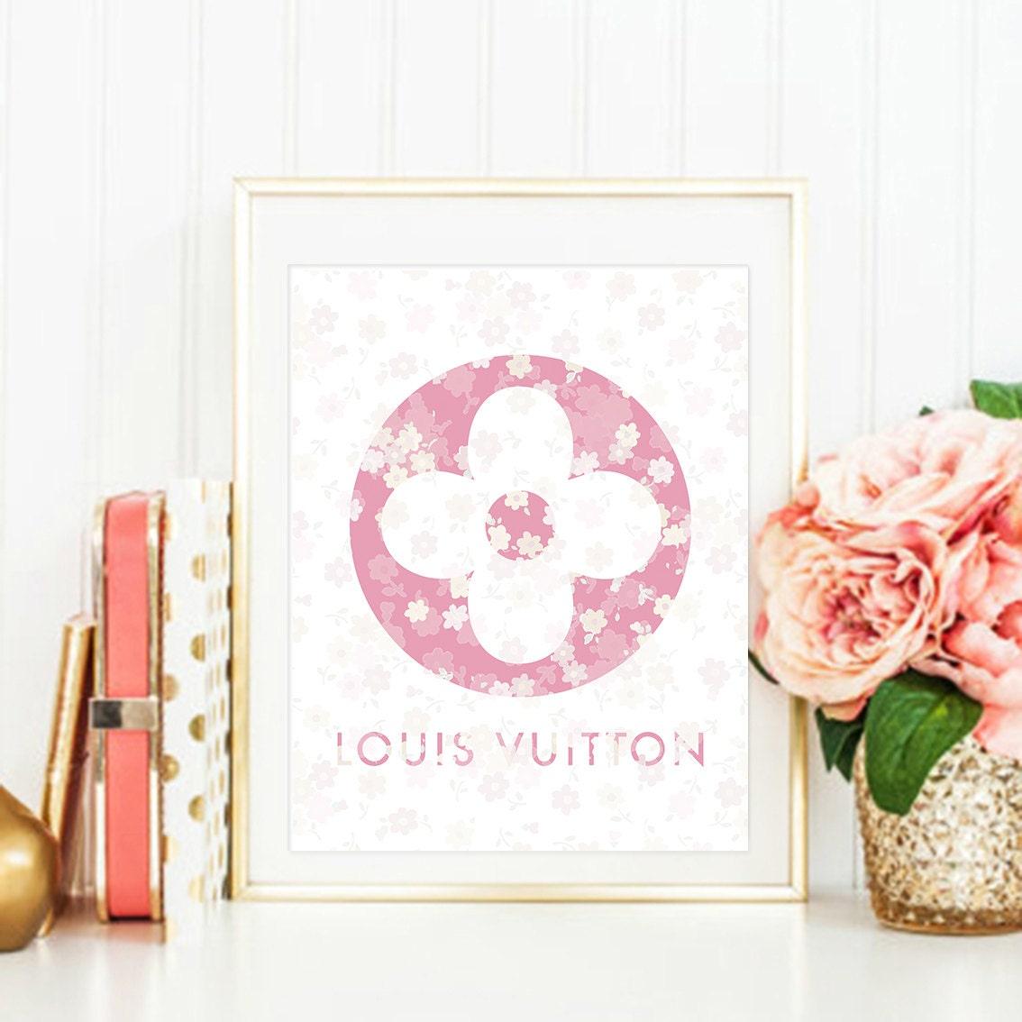 Louis Vuitton Wall Decor Flowers