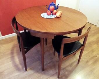 Hans Olsen for Frem Rojle Extending table and 4 chairs