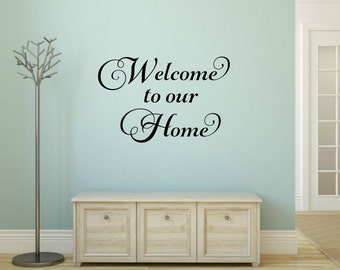Welcome Wall Decor welcome to our home   etsy
