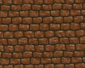 Brick Landscape Fabric, Moda 15638 18 Modascapes Bricks, Red Brick Wall Fabric, Brick Quilt Fabric, Cotton Brick Fabric