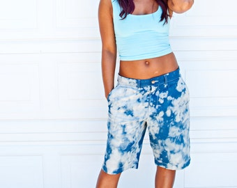 SALE 50% OFF -  Women's Organic Light Blue Fitted Crop Tank - Small