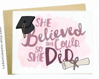 Graduation Card - Girl - Congrats Grad - Graduation - Congratulations - Card