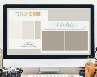 Photography Session Template Set of 2 / Lifestyle / In-Home / Senior / Family / Couples / Summer