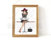 Lady Latte (Fashion Illustration Print)