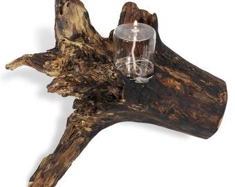 Oil lamp holder etsy for Wooden kerosene lamp holder