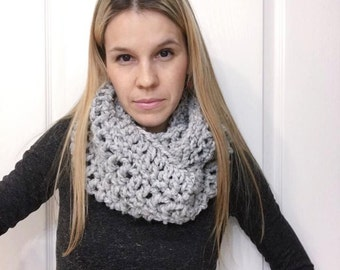 Chunky Knit Infinity Scarf - Women's Knitted Cowl - Crochet Wool Scarf - Neck Wrap - Knitted Neckwarmer - The LIKA Cowl - Choose Your Color