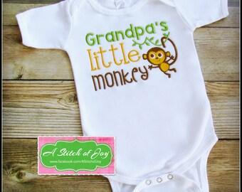 Grandpa's Boy Bodysuit, Grandpa's Boy Shirt, Grandpa's Little Monkey, Grandpa Loves Me, My Grandpa Loves Me, Grandparents