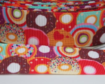 Donut 7/8 inch Grosgrain Ribbon by the Yard for Hairbows, Scrapbooking, and More!
