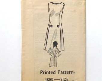 Vintage 60's Sewing Pattern - Anne Adams Mail Order Dress Pattern #4893 - Size 14 (bust 64)