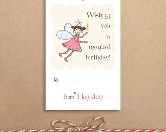 Fairy Gift Tags - Party Tags - Favor Tags - Custom Gift Tags - Personalized Gift Tags