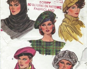 vogue hat pattern cover mid century download