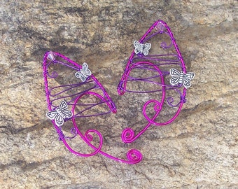 Elf Ear Cuffs - Butterfly Flutters - Elven Forest Jewelry - Ready to Ship