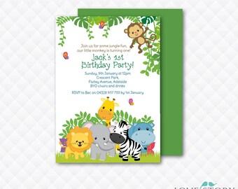 DIY Printable ~ Jungle Birthday ~ Jungle Invitation ~ Birthday Invitation ~ Jungle Party ~ Safari Invitation ~ Jungle ~ Print your own