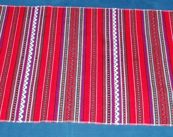 Vintage Ukrainian Rushnyk Red and White Table runner Towel Woven Serape Dresser scarf Tapestry Table topper ethnic home rustic kitchen decor