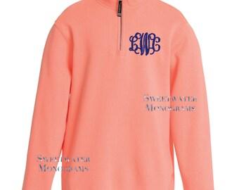 Charles River Monogrammed 1/4 Zip Sweatshirt Embroideried Quarter Zip Sweatshirt Personalized Sorority Fleece