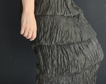 Silk dress, shift dress, with a 2 layerd skirt, playful, pre washed ready to hit your party