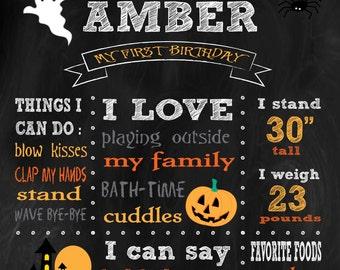 Halloween Birthday Chalkboard *printable*