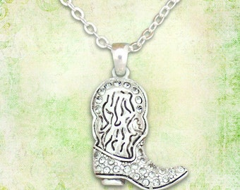 Cowboy Boot Necklace - 47503