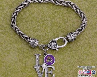 "East Carolina Pirates ""LOVE"" Clasp Bracelet"