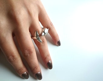 Dolphin ring / / ring/Turkish silver plated jewelry / / animal-shaped gift for you / Valentine