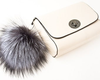 Bag Charm Fur Keychain Pom Pom Keychain Fur Bag Charm Fur Ball Keychain Pompom Keychain Fox Fur Key Chain Pompom Bag Charm