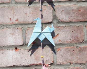 Horses origami garland - FREE SHIPPING