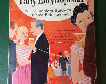 The Calvert Party Encyclopedia Your Complete Guide to Home Entertaining Book 1960's Retro Bar Paperback Book Fun gift idea for game room bar