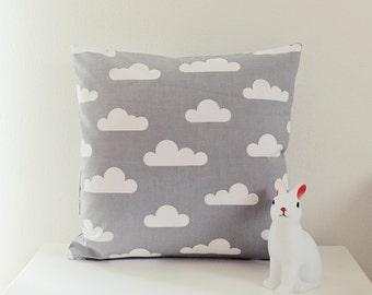 Ahoj-2012 Cushion cover, pillow cover, pillow, pillow, many clouds, cloud motif, nursery, grey/white, decoration, cloud pillows