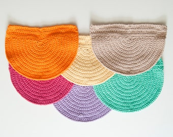 Crasty Flap/ Alfa / Changeable crochet flap in cotton for you colorful crochet and boho clutch bag
