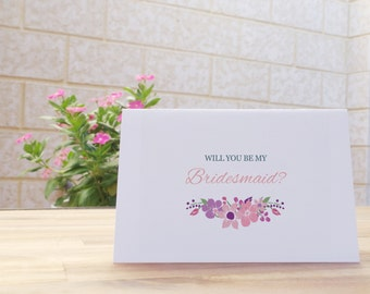 Will you be my Bridesmaid printable card - Instant download