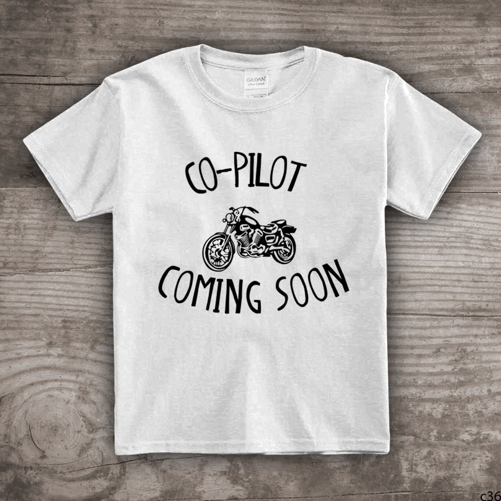 New Baby Announcement tshirt co pilot Motorcycle tshirt – Baby Announcement T Shirt