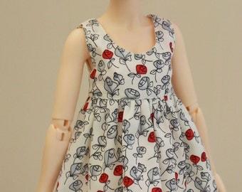 Rosebud print dress for MSD Minifee/Unoa, Slim Mini