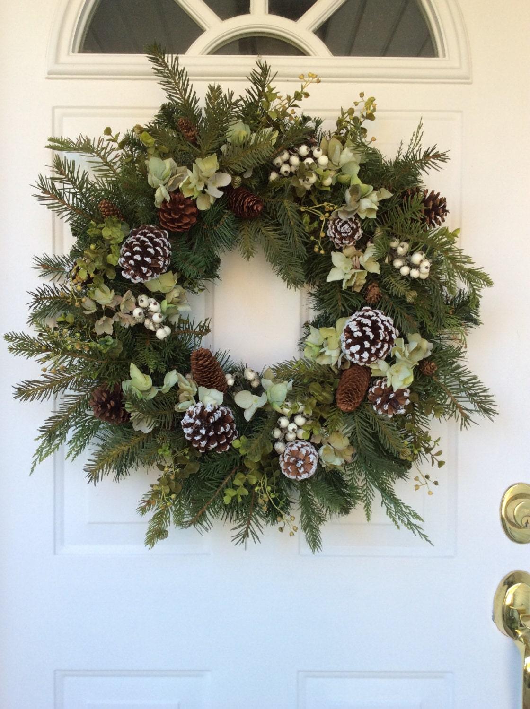 Winter Wreath All Season Wreath Winter Decor Evergreen