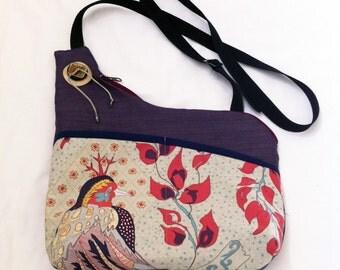 Royal Birds Handmade Asymmetrical Shoulder Bag